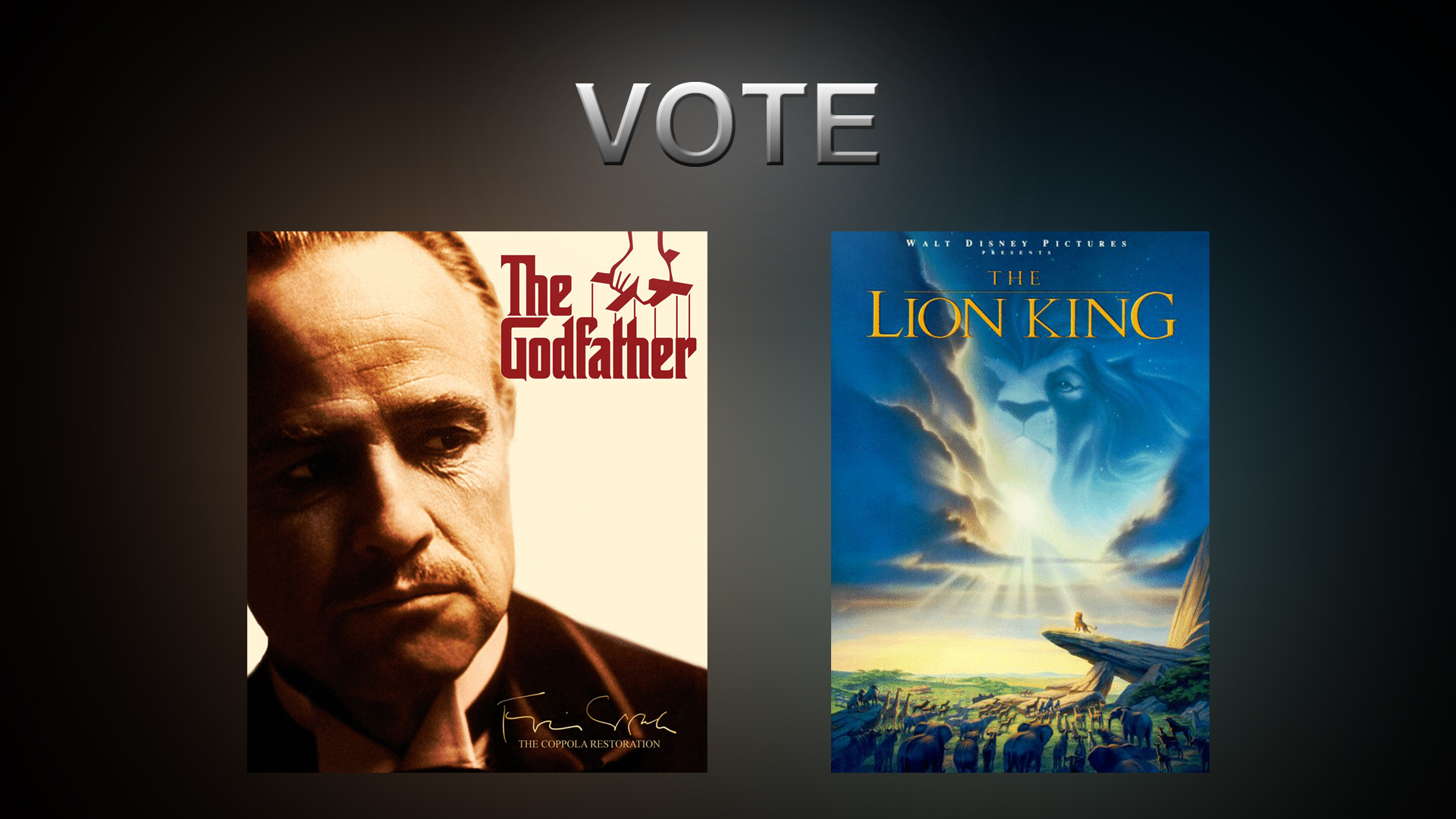Vote For Review – The Godfather, The Lion King